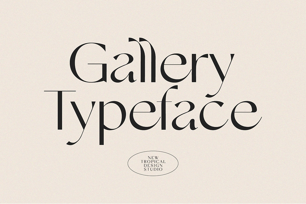 New tropical design fonts - gallery