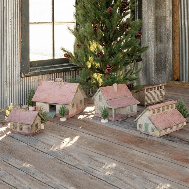 Barnyard Building Diorama Collection, Set of 5