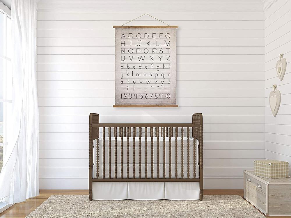 distressed baby's room decor