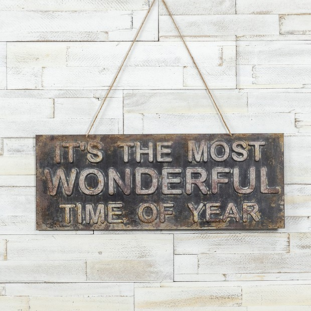 Most Wonderful Time Rustic Sign