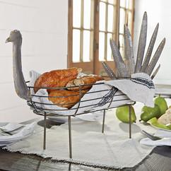 Farmhouse Galvanized Tin Turkey Breadbasket