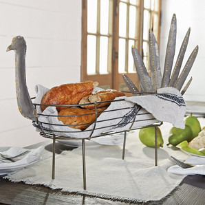 Farmhouse Galvanized Tin Turkey Breadbasket