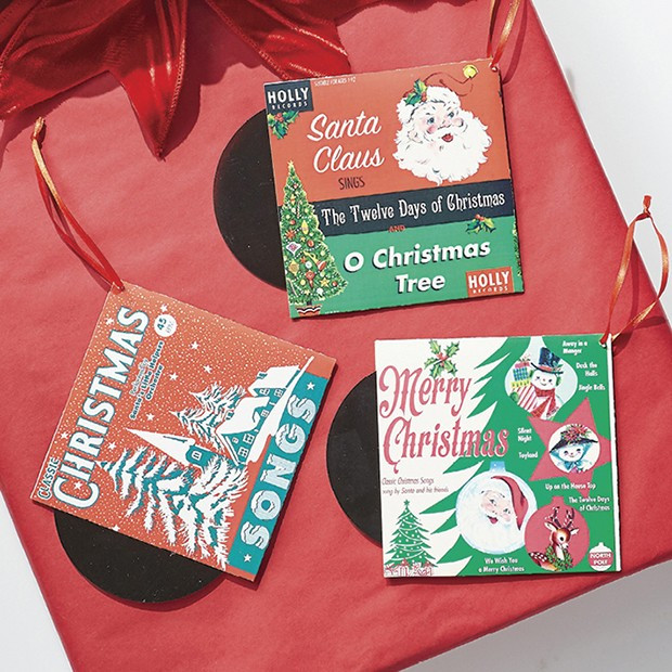 Christmas Record Holiday Ornaments, Set of 3