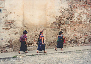 Guatemala women walking
