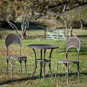 Distressed Metal Bistro Patio Table, Matching Chairs Available