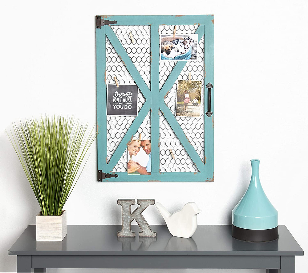 teal rustic wall frame