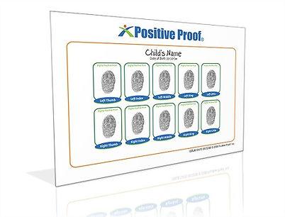 10 Fingerprint Card - Positive Proof
