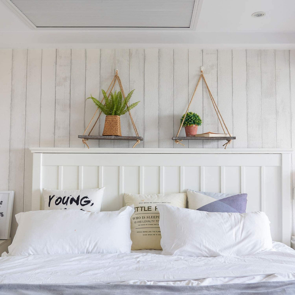 rustic wall shelves for bedroom