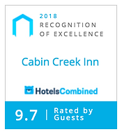 Hotels Combined Recognition of Excellence - Cabin Creek Inn