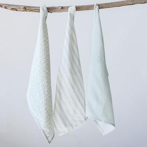 Simple Classic Cotton Tea Towels, Set Of 3