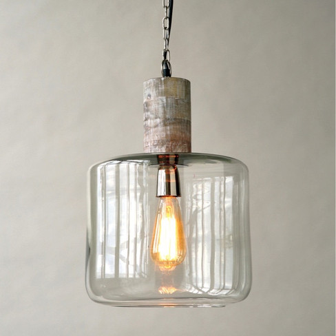 mango wood hanging pendant light