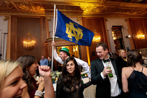 Intercon-Chicago-Wedding-Notre-Dame-Flag