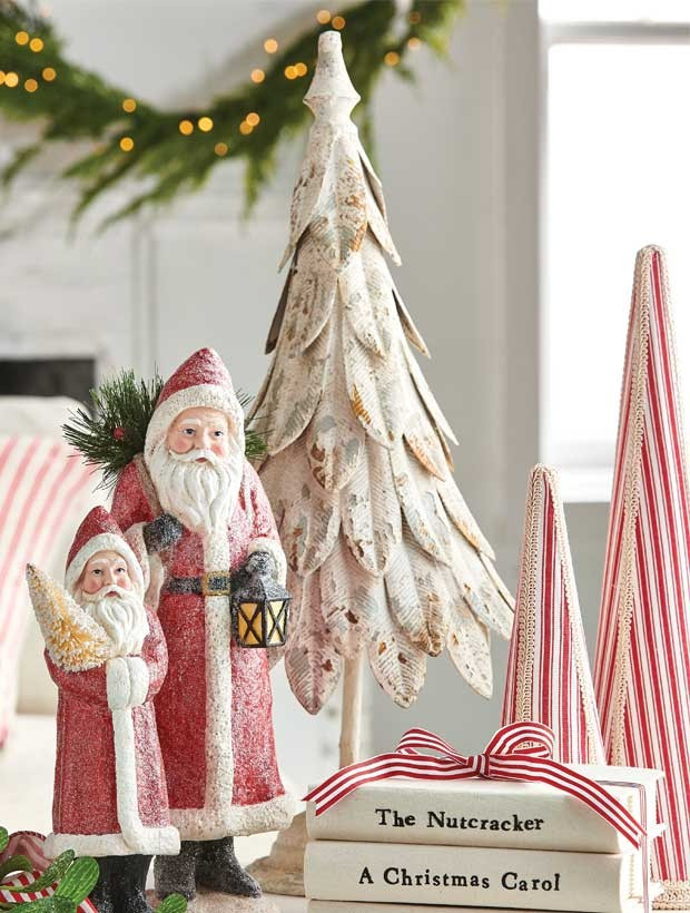 distressed holiday decor