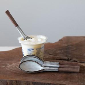 Farmhouse Two Tone Stoneware Spoon, Set of 2