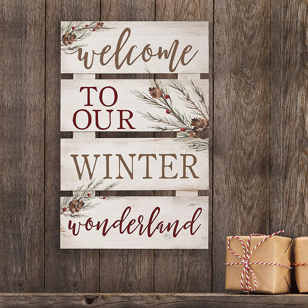 rustic wood wall sign for christmas