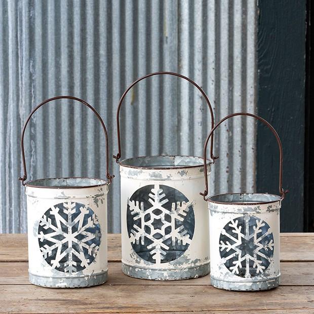 Snowflake Luminaria Bucket