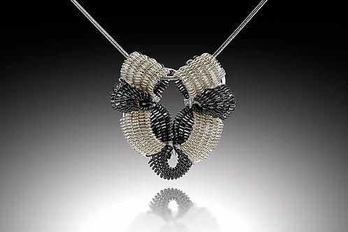 Victoria Pendant, Silver & Black