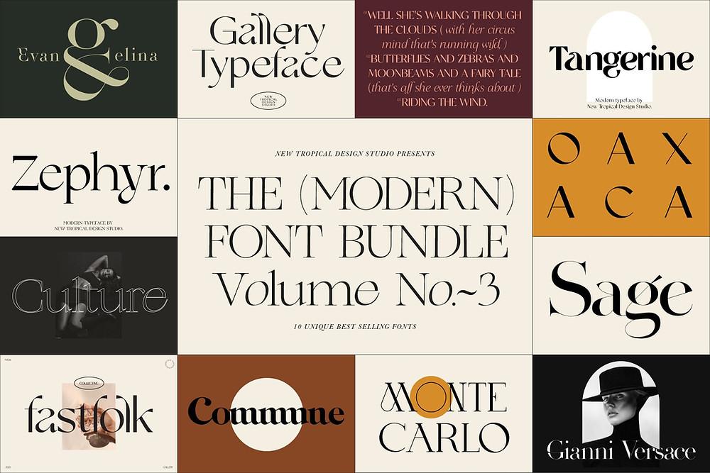 New Tropical Design font bundle