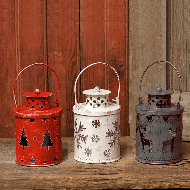 Mini Holiday Lantern Collection, Set of 3