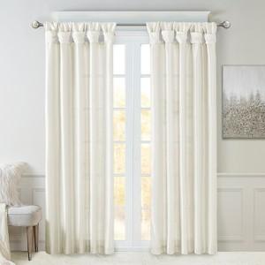 simple elegance twist tab curtain panel