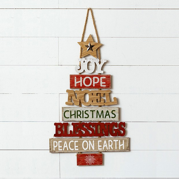 Christmas Blessing Tree Door Hanger