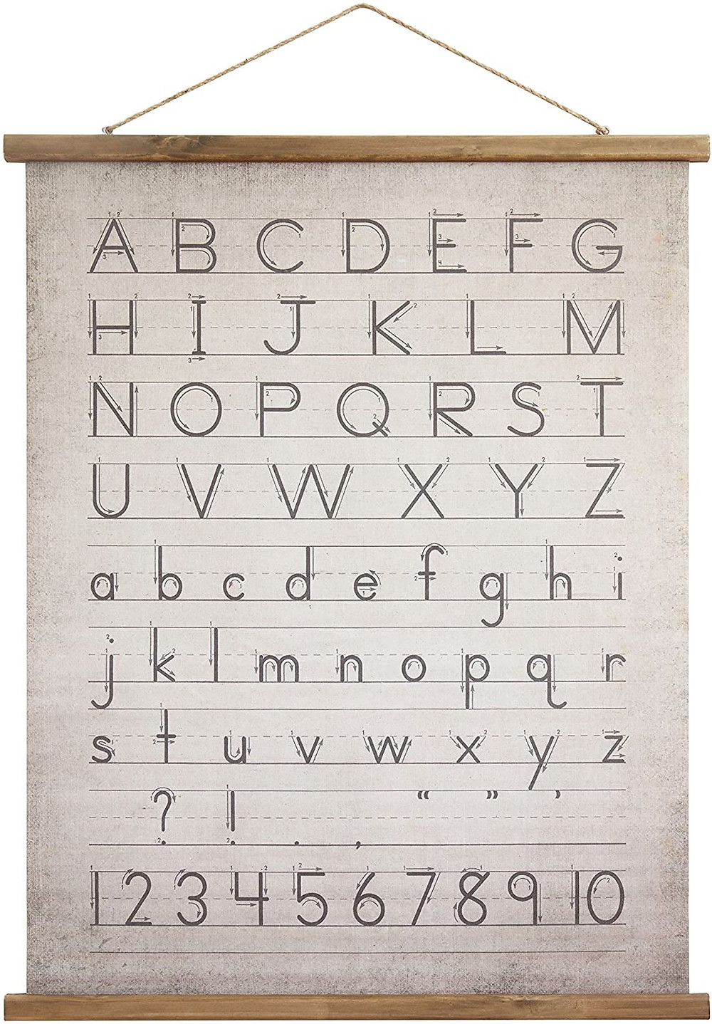 rustic alphabet and numbers wall decor