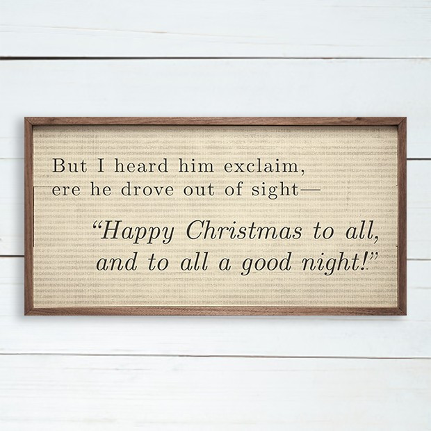 Christmas Poem Wall Sign