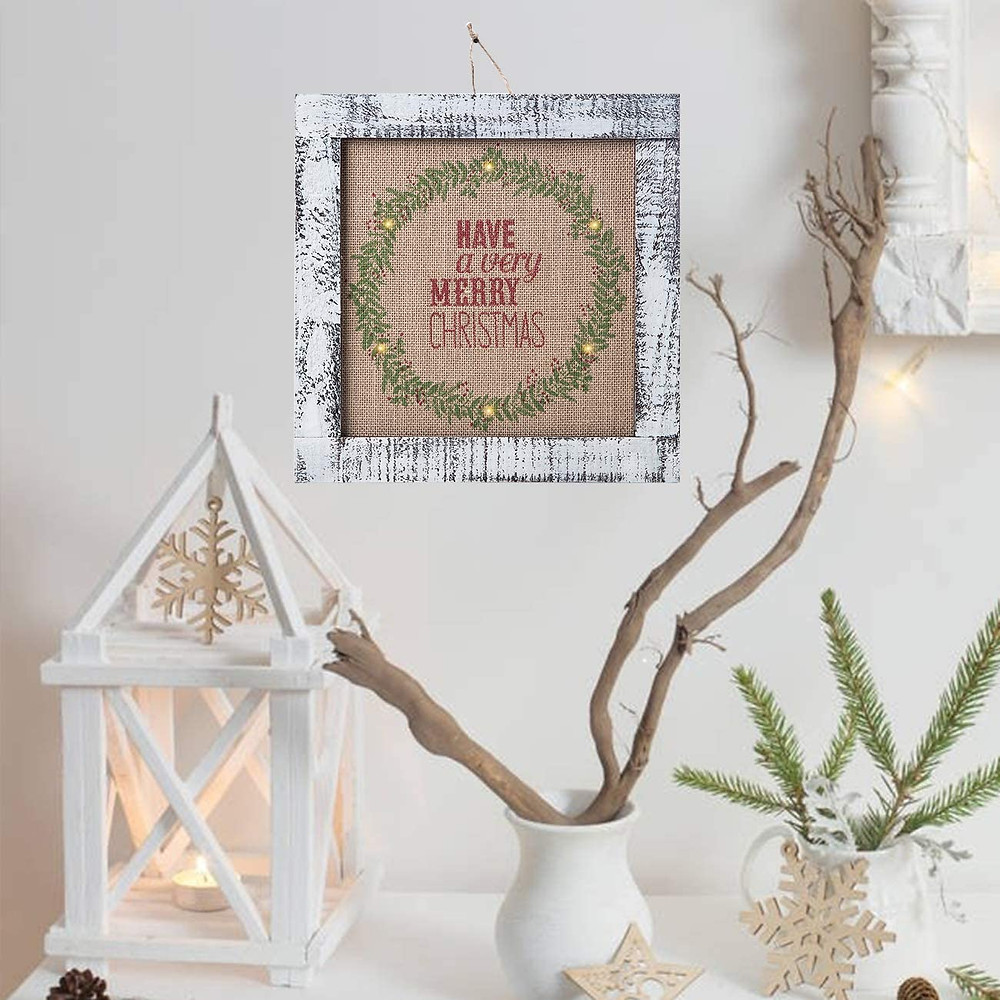 rustics Christmas wall decor