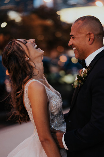Summer-Wedding-Chicago- Sunset-Laughing-