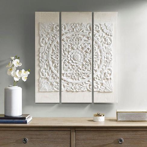3 panel medallion canvas wall art