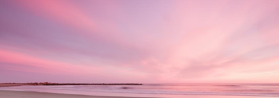 pastel beach scene at night