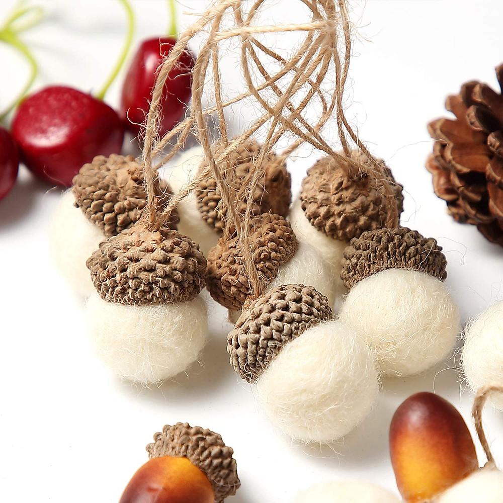 fall decor acorn ornaments