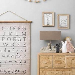 Farmhouse Alphabet & Numbers Wall Décor On Canvas For Nursery