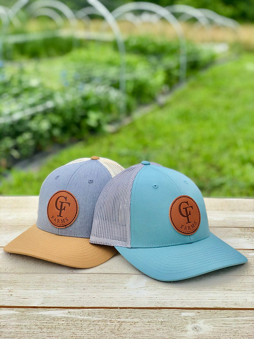 C.F. Farms Leather Patch Hat
