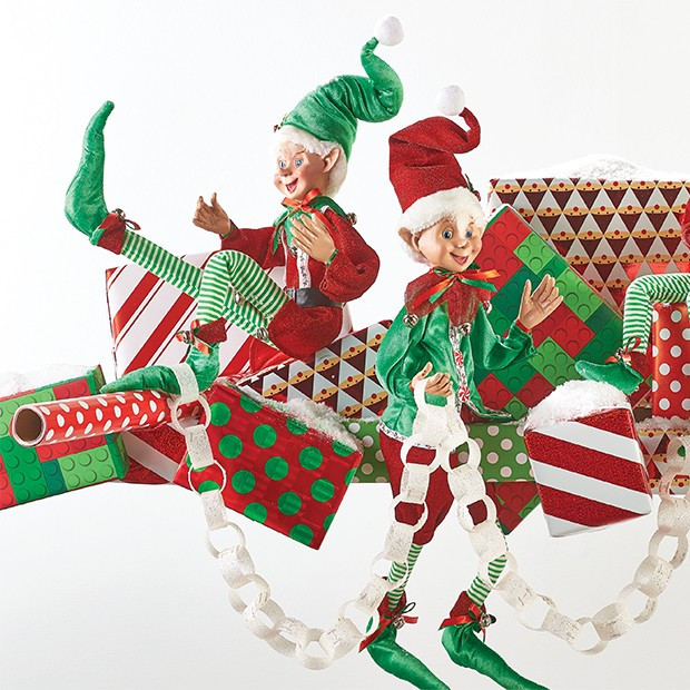 Posable Christmas Elves