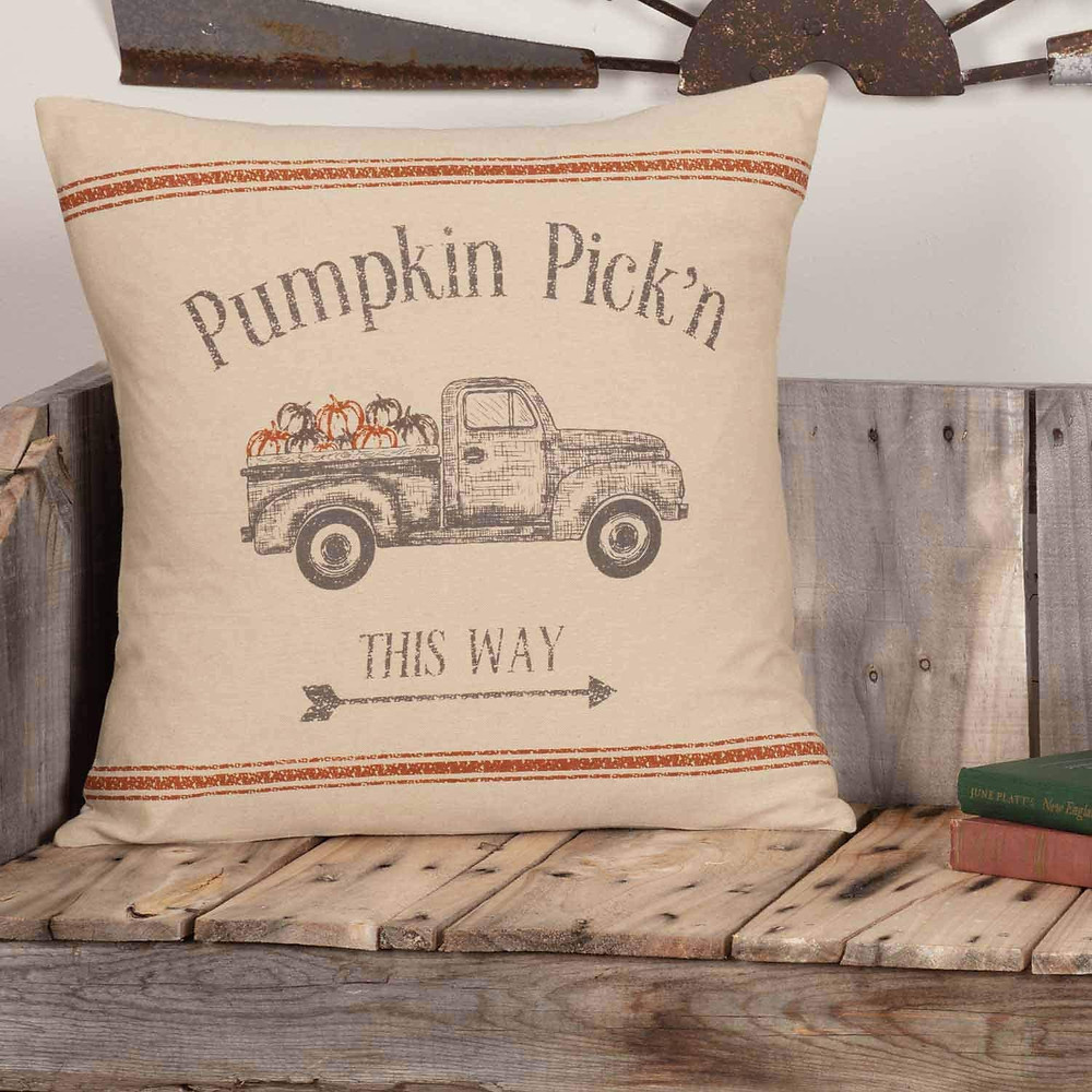 rustic autumn pillow cover