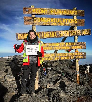 Mount Kilimanjaro sign