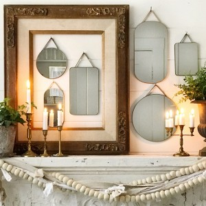 velved edged mirror collection