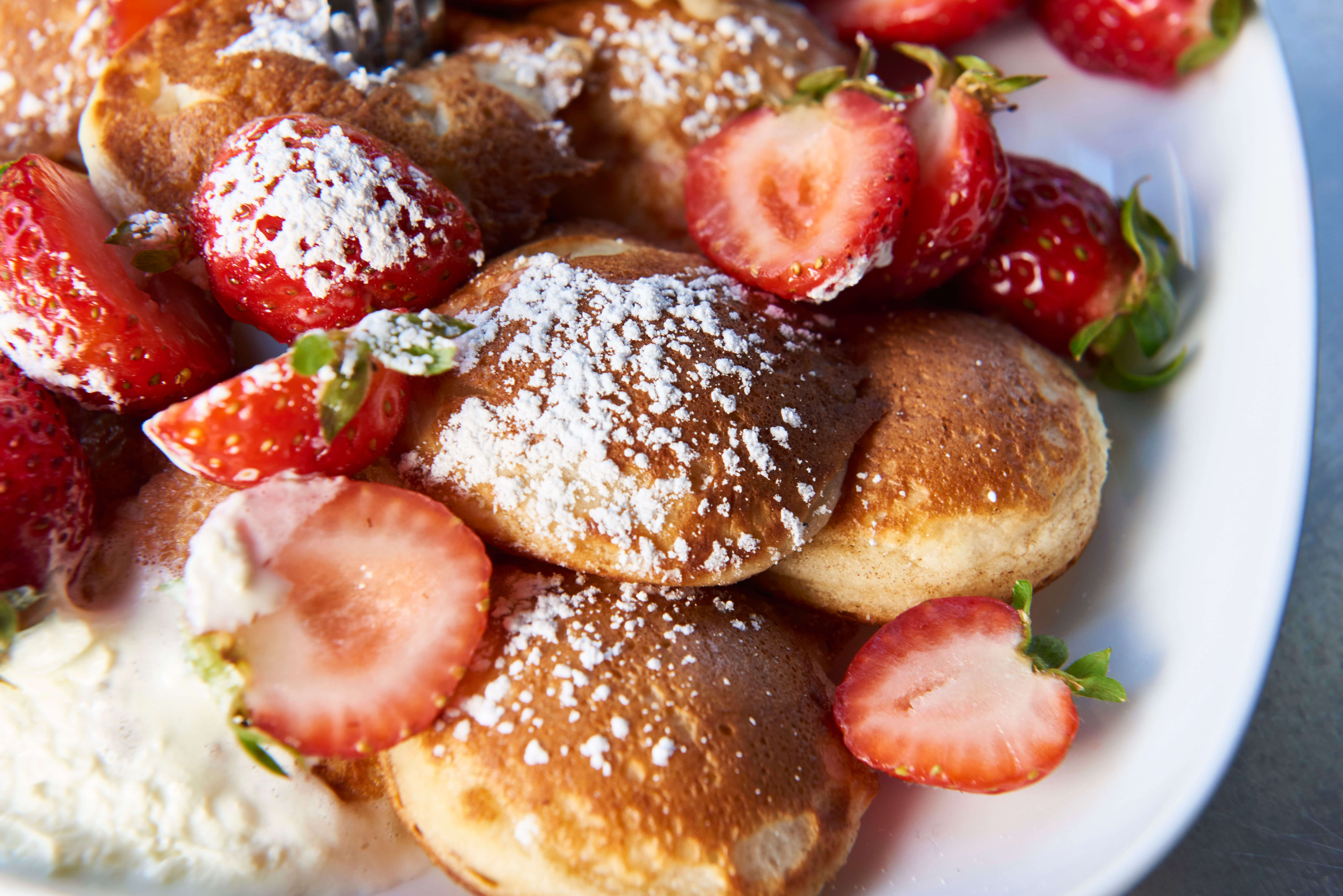 Poffertjes and toppings