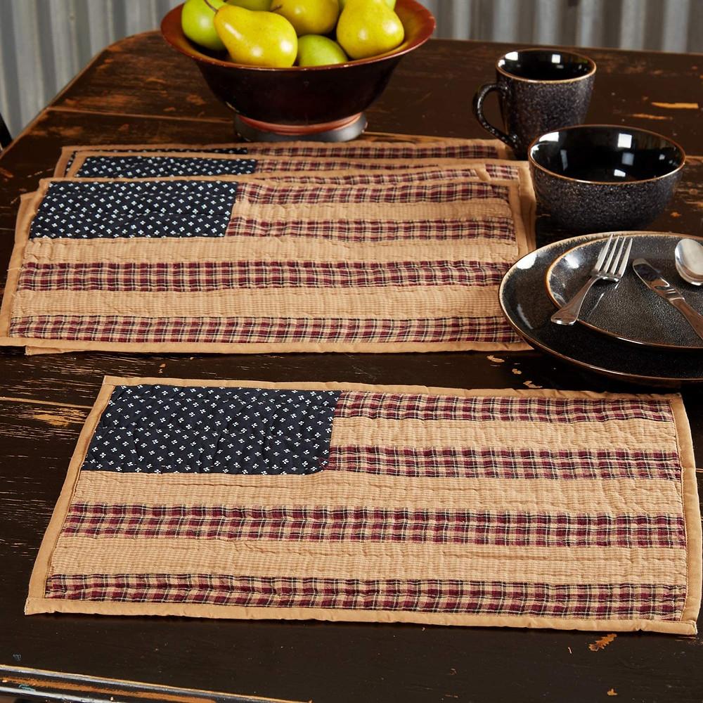 vintage american flag placemat