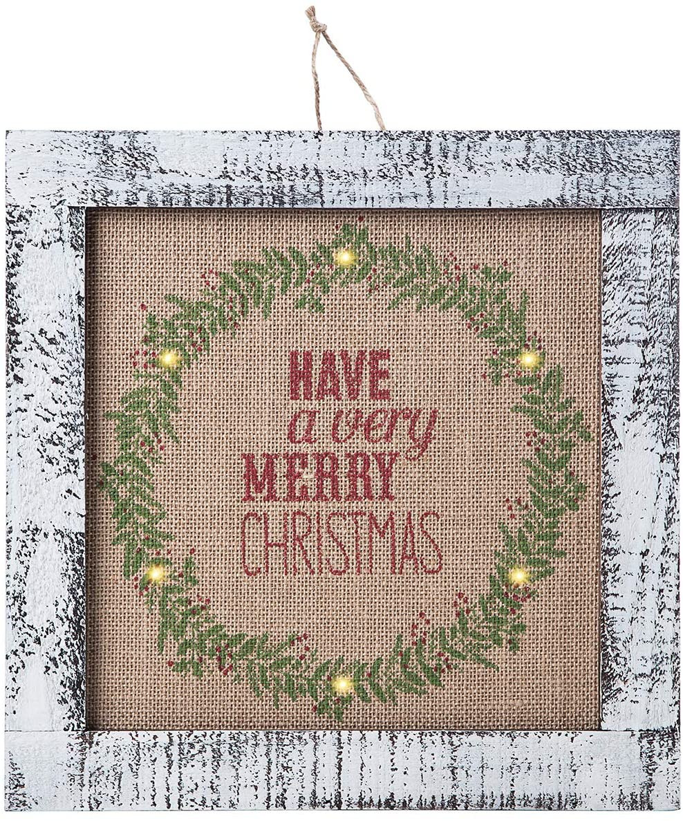 weathered Christmas wall decor