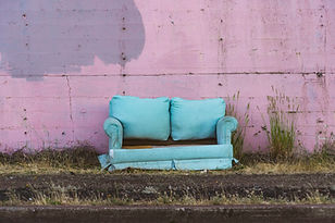 old couch on side of road