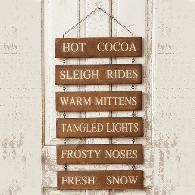 All Things Winter Stacked Hanging Sign