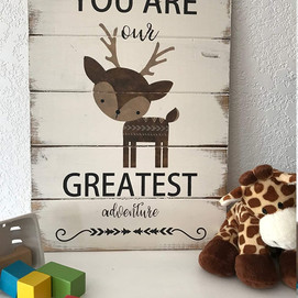 Distressed Farmhouse Style Sign With Sentiment for Baby Nursery