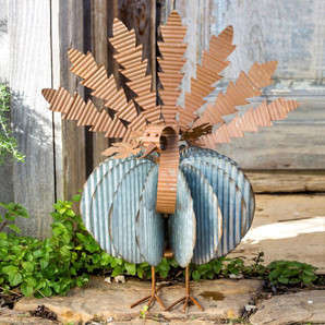 Industrial Tin Seasonal Turkey Decor