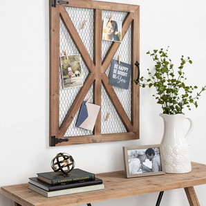 Rustic Wooden Farmhouse Photo Collage Clip Wall Frame