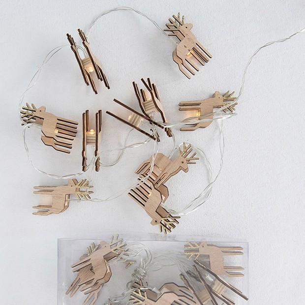 Reindeer LED String Lights