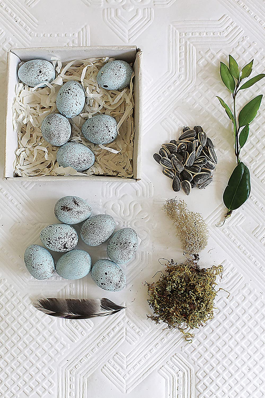 Blue Speckled Ceramic Robin Eggs