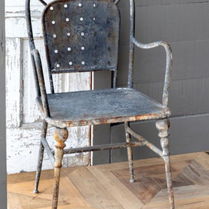 Weathered Vintage Cafe Arm Chair, Set of 2