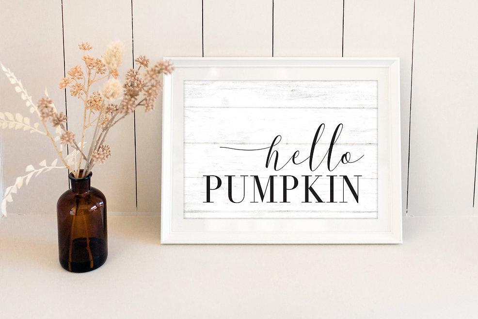 desktop print with hello pumpkin